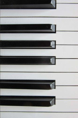 Blank Journal - Black and Ivory Piano Keys