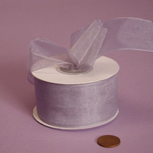 Silver Shimmer Sheer Organza Ribbon, 1-1/2' X 25Yd