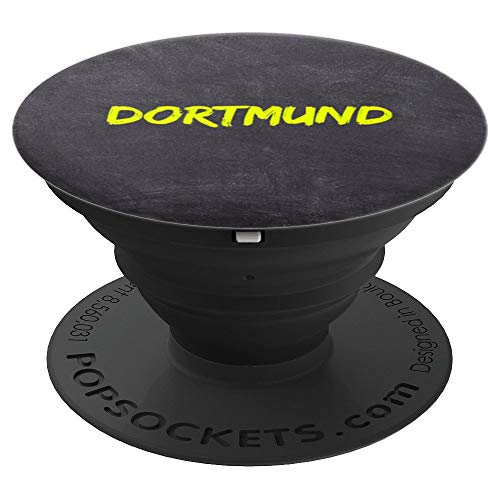 Dortmund Geschenk - Männer Frauen Mädchen Jungen Kinder - PopSockets Ausziehbarer Sockel und Griff für Smartphones und Tablets