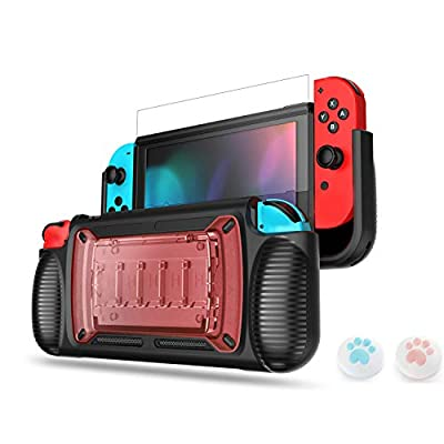LeyuSmart Grip Case for Nintendo Switch, with T...