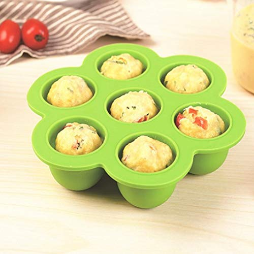 Vaporizador de huevo de silicona resistente, gel de sílice 16.3x15.5x4cm para moldes de presión reutilizables accesorios de cocina (verde)