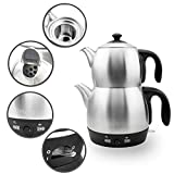 Elektrische Moderne Teemaschine Wasserkocher mit autom. Abschaltung & Warmhaltefunktion und Sieb....