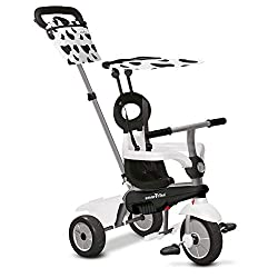 Removable touch steering parent handle 3-point Y-harness and safety bar Mudguard navigator button – transfers control from parent to child Quality storage bag coordinated with canopy Recommended age 10 – 36 months