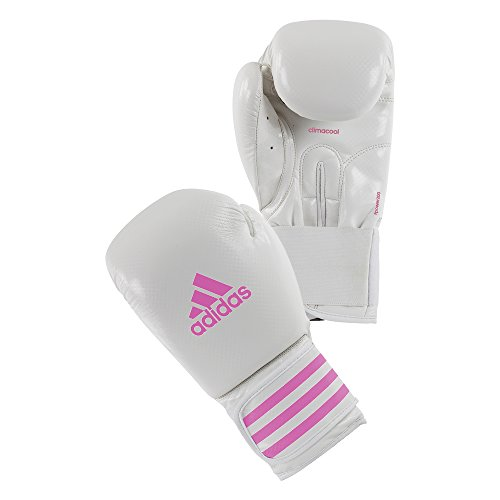 adidas Boxhandschuhe Box-FIT, Weiß/Pink, 8oz