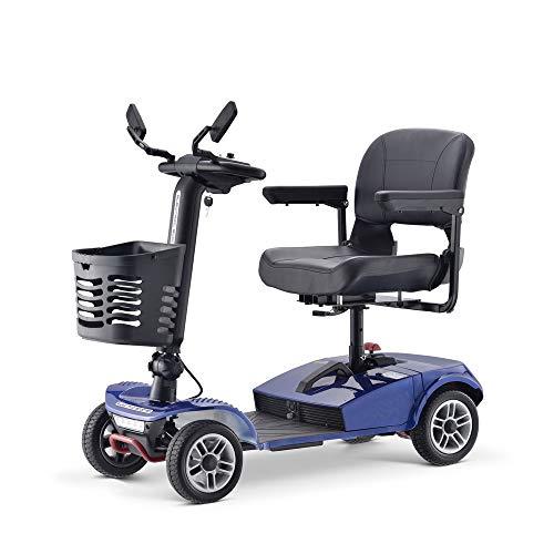 Elektrische scooter met 4 wielen voor volwassenen, inklapbaar en zwaar, voor grotere scooter, afmetingen 1100 x 510 x 900 mm