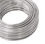 14 Ga -100 Ft Coil Pure Aluminum Wire, Armature, Jewelry Making, Metal Wrap, Soft,