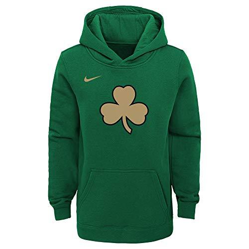 Boston Celtics NBA Nike Boys Youth 8-20 Green City Edition Club Pullover Hoodie Sweatshirt (Youth Medium 10-12)
