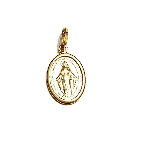 Luppino Gioielli - Ciondolo Medaglia Madonna Miracolosa oro Giallo 18kt - 750/000 unisex Gr. 1,00