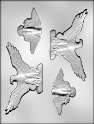 CK Products 3-5/8-Inch and 5-3/8-Inch Eagles Chocolate Mold