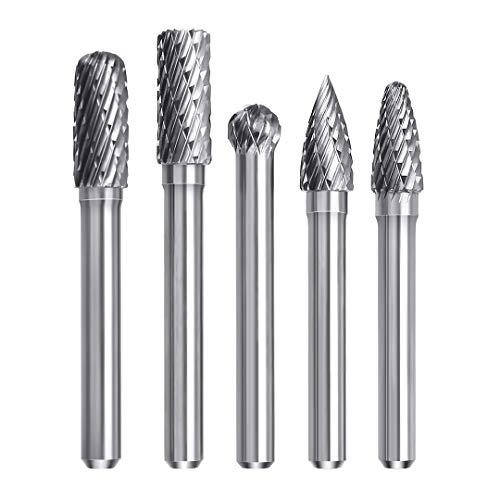 5tlg Hartmetall 8 MM Drehpunkt Wolframkarbid Gravur Fräser-Set, 6mm Schaft Fräser Bit für Bohrmaschine, Multifunktionswerkzeug