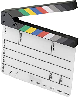 Elvid 9-Section Acrylic Dry Erase Production Slate [Clapboard] with Color Clapper Sticks (9x11)