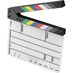 Uses Dry-Erase Markers Engraved Text and Lines Color Clapper Sticks Limited 1-Year Manufacturer Warranty