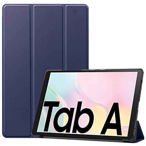 NUPO Hülle für Samsung Galaxy Tab A7 10.4 2020, Ultra Slim Cover Schutzhülle PU Lederhülle mit Standfunktion, Sleep Wake Up Funktion für Galaxy Tab A7 SM-T500/T505/T507 10.4 Zoll 2020, Blau