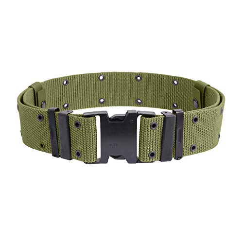 Olive Drab Marine Corp Style Quick Release Pistol Belt - X-Large