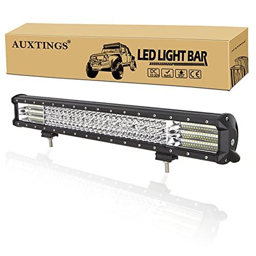 AUXTINGS 50,8 cm 510 W barra luminosa a LED da lavoro fascio di luce per camion trattori 4x4 barca fuoristrada fendinebbia,12V 24V impermeabile IP67
