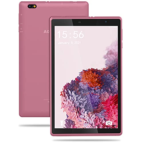 Tablet 8 Pulgadas Android 10 IPS Ultrar-Rápido Tablets HD 1280 * 800 Quad Core 3GB RAM 32GB/128GB ROM WiFi 5000mAh Bluetooth 4.2-Certificación Google GMS (Azul) (Rosa)