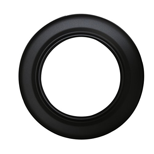 Kamino Flam 331759 Ofenrohrrosette schwarz, Sichtblende aus Stahl, Kaminrosette mit hitzebeständiger Senotherm Beschichtung, Rosette geprüft nach Norm EN 1856-2, Maße: ca. Ø 130 mm