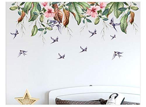 Impresión de plantas verdes pegatinas de pared extraíbles Sala dormitorio Sofá Fondo pared Ph1054-Ph1064