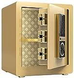 Cajas Fuertes Cajas fuertes, tabique móvil, una función de Sistema de Alarma antirrobo incombustible y Resistente al Agua contraseña electrónica de Huellas Dactilares Caja Fuerte 36 * 31 * 40cm Safe
