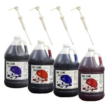 Syrups With Pumps (Blue Raspberry-Grape-Cherry-Strawberry)