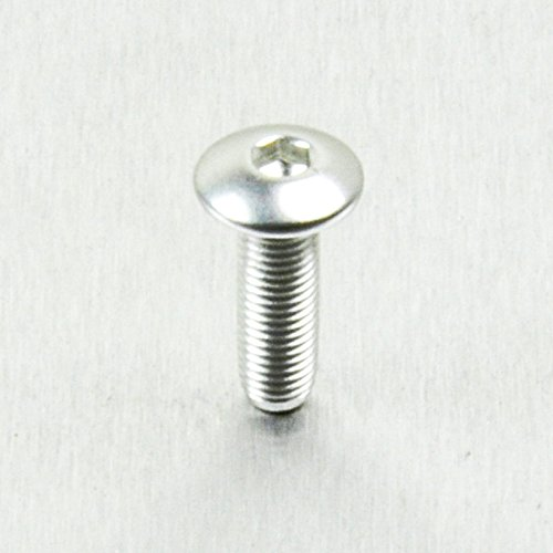 Aluminium Linsenkopfschraube M4 x (0.5mm) x 12mm Feingewinde Silber