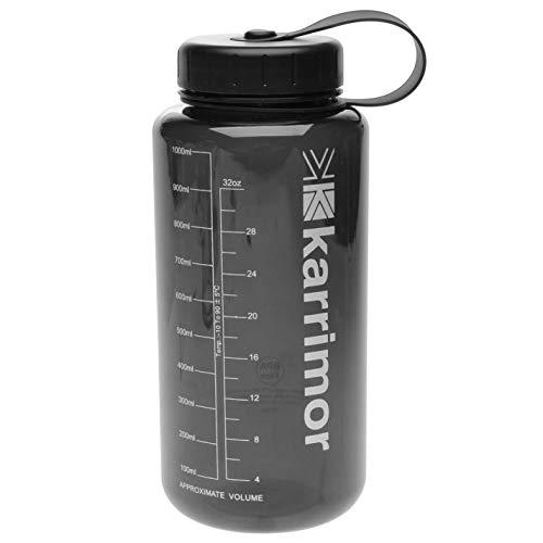Karrimor Unisex Tritan Bottle 1L Water Charcoal One Size