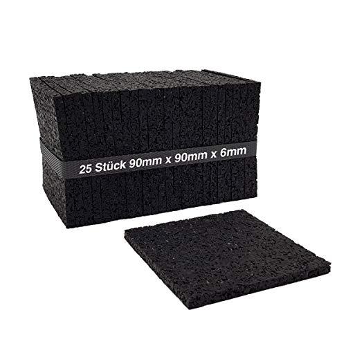 25 Stück 6mm Terrassenpad, Terrassenpads, Gummigranulat, Terrassenbau