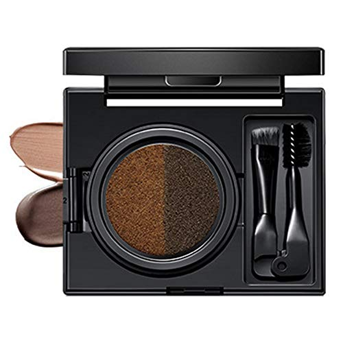 Merssavo Kit De Maquillage En Poudre Pour La Crème Pour Les Sourcils Avec Brosse à Double Tête Et Miroir (02#)