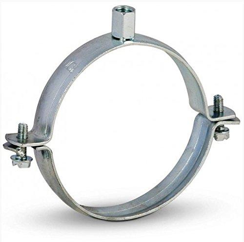 Ofenrohr Rohrhalter 110 mm verzinkt + 150 mm Schraube Rohrschelle Wandhalter