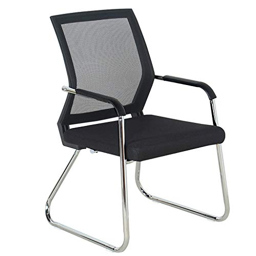 YANYDO Chaise en Tissu à Dossier d'invité Chaise en Tissu à Dossier de Bureau Chaise en Ordinateur Chaise de conférence de Formation du Personnel (Couleur : Noir)