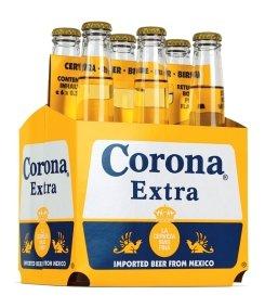 Paquete de 6x Cervezas Corona Extra de México - 6 x 33cl Cerveza