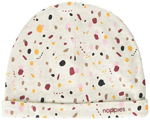 Noppies G Hat Chicopee AOP Bonnet, Multicolore (Whisper White Mélange P202), Unique (Taille Fabricant: 6M-12M) Bébé Fille