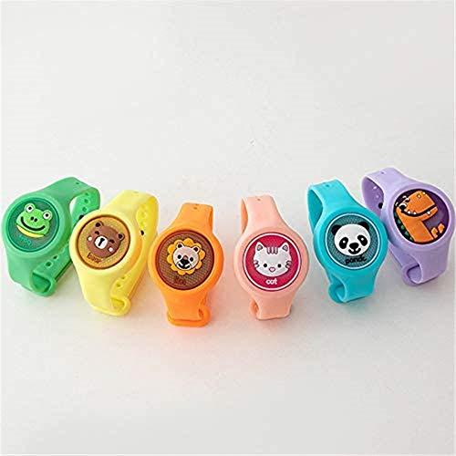 CZE Jungle Formula Insektenschutzarmband für Kinder, Mückenschutz-Schlagband, wasserdicht , mit blinkenden Lichtern (5 Farben Werden zufällig gesendet)