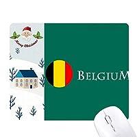 ベルギーブリュッセル サンタクロース家屋ゴムのマウスパッド