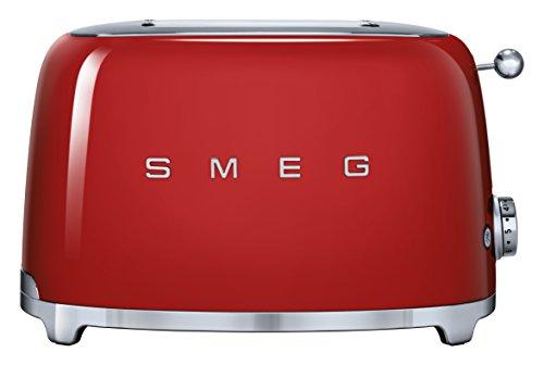 Smeg TSF01RDEU Toaster 2 Scheiben, rot