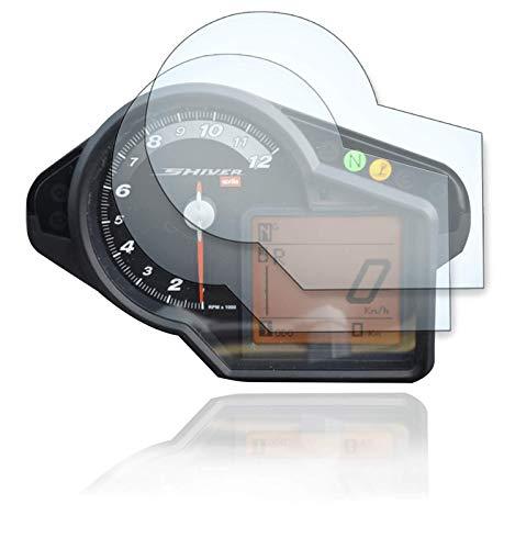 [2 Stück] Displayschutzfolie Tacho Schutzfolie geeignet für Aprilia Shiver 750 2x Anti Glare