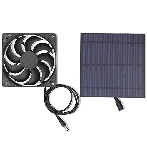 FECAMOS Ventilatore ad energia Solare da 5 W, Ventilatore a Pannello Solare, Pannello Solare...