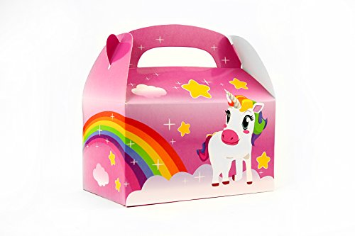 Ifavor123 Unicorn Rainbow Gift Party Treat Favor Boxes for Unicorn Theme Birthday Parties Events - 24 Pack