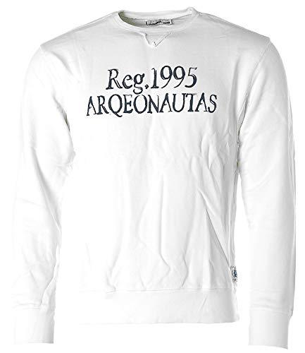 ARQUEONAUTAS® Sweatshirt Sweat Pullover -Reg. 1995- Weiß L (M)