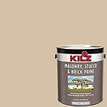 KILZ 13510801 L340711 Interior/Exterior Self-Priming Masonry, Stucco and Brick Flat Paint, 1 Gallon, Pismo Beach/Light Warm Tan