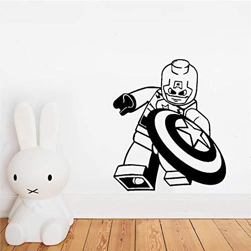 wZUN Creativo Capitán Ninjutsu Pegatinas de Pared Papel Tapiz para habitación de niños héroe calcomanía de Pared Mural 28X32cm