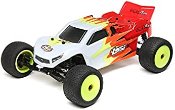 Losi 1/18 Mini-T 2.0 2WD Stadium RC Truck Brushed Ready to Run (Battery, Receiver, Charger and Transmitter Included) , Red/White, LOS01015T1