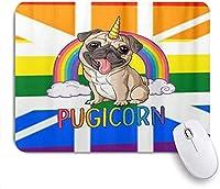 マウスパッド 個性的 おしゃれ 柔軟 かわいい ゴム製裏面 ゲーミングマウスパッド PC ノートパソコン オフィス用 デスクマット 滑り止め 耐久性が良い おもしろいパターン (イギリス連合虹LGBTゲイプライドフラグ)