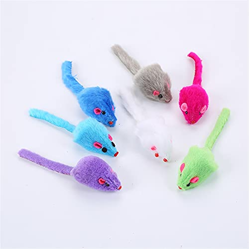 QWEQWE 5 unids de Piel de ratón Juguetes Cargados Mixtos Juguetes interactivos para Juguetes para Gatos para Gatos para Gatos para atrapar y Masticar con Sonido (Color : 02, Size : 1pc Random Color)