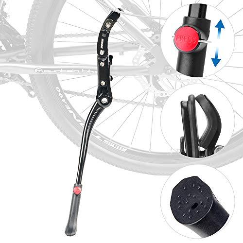 LYCAON Pata de Cabra para Bicicleta, Soporte de Bicicleta Ajustable de Aleación de Aluminio, con pie de Goma Antideslizante, para Bicicleta de Montaña/Bicicleta de Carretera de 26'-28'