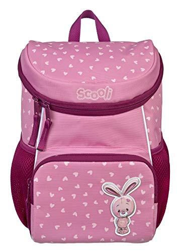Scooli Kindergartenrucksack mit Abnehmbarer Brustgurt für MädchenI Ergonomischer Vorschulrucksack für die Kita I viel Stauraum geringes Gewicht, Bella rosa