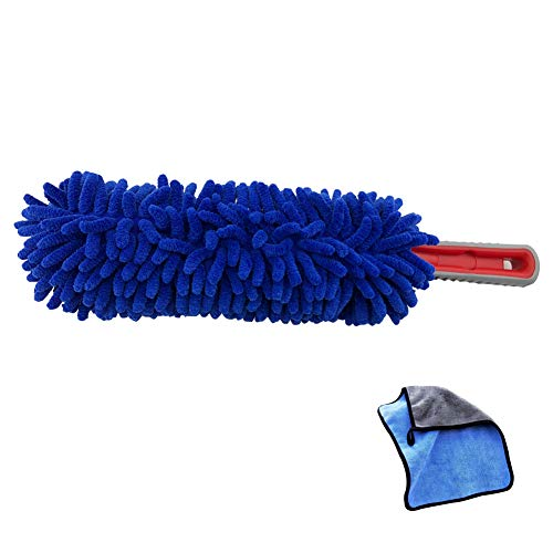RCCT Car Duster Interior Cleaning Wash Brush Kit Care Tools Best Automotive Soft Microfiber Duster Vehicle Clean Towels Multipurpose for Auto Accessories Use Remover Dirt