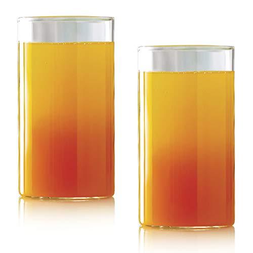 Borosil Vision Glass Set, 350ml, Set of 2, Transparent