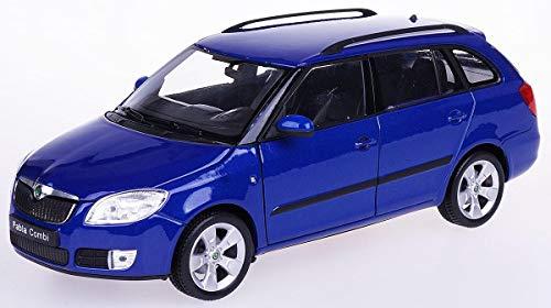Skoda Fabia II Combi, blau, 0, Modellauto, Fertigmodell, Welly 1:24