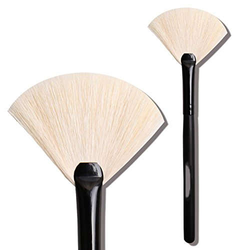 Maquillage professionnel plus de peinture, brosse en forme de fan, brosse maquillage maquillage 1pcs , black